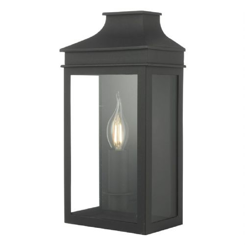 Vapour 1 Light Coach Lantern Black IP44  VAP5222